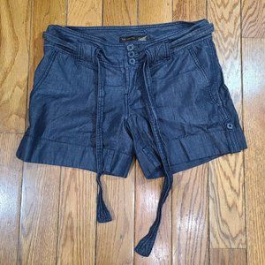 The Limited Women's Belted Chambray Shorts